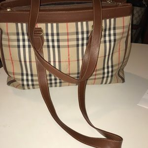Burberry London Vintage Nova Check tote